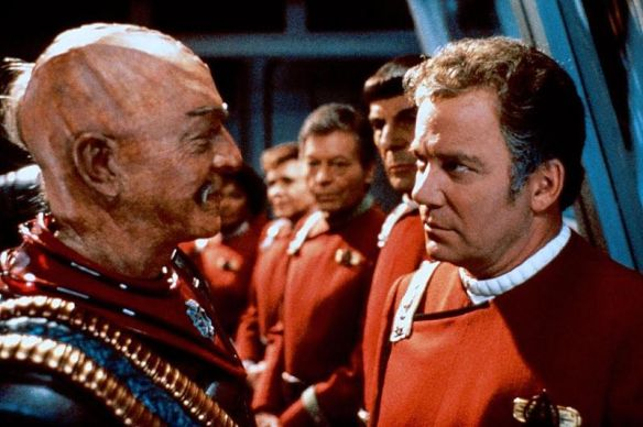 Christopher Plummer (left) and William Shatner in Star Trek 6: The Undiscovered Country