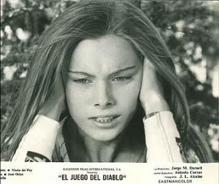 Inma de Santis in a moment of crisis in Eloy de la Iglesia's Forbidden Love Game (1975)