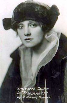 Broadway actress Laurette Taylor