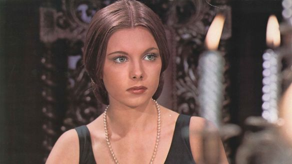 The lovely Inma de Santis tries to decipher her current predicament in Forbidden Love Game aka Juego de Amor Prohibido (1975)