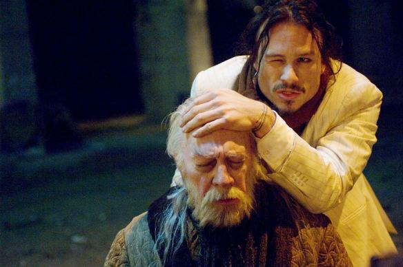 Christopher Plummer and Heath Ledger (top) in The Imaginarium of Doctor Parnassus