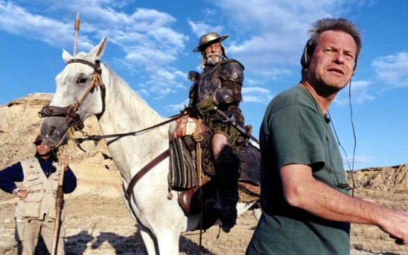 Director Terry Gilliam (right) in a scene from Lost in La Mancha