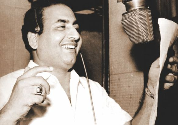 Mohammad Rafi at a playback session
