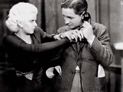Jean Harlow and Robert Williams in Frank Capra's Platinum Blonde