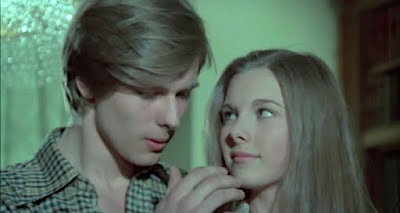 John Moulder-Brown and Inma de Santis are caught in a web of evil in Juego de amor prohibido (1975) aka Forbidden Love Game