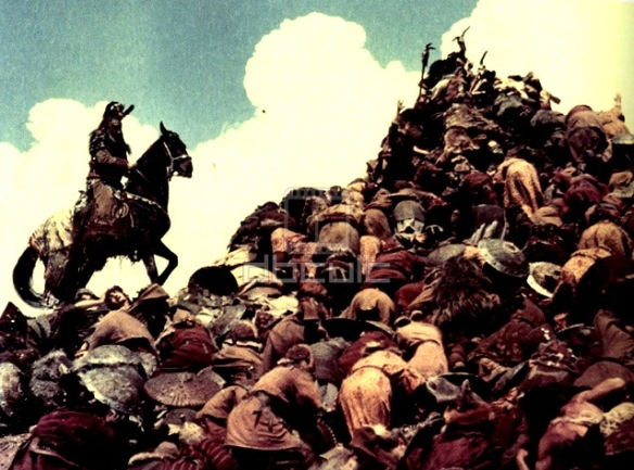 The incredible human mountain in Ilya Muromets (1956, aka The Sword and the Dragon)