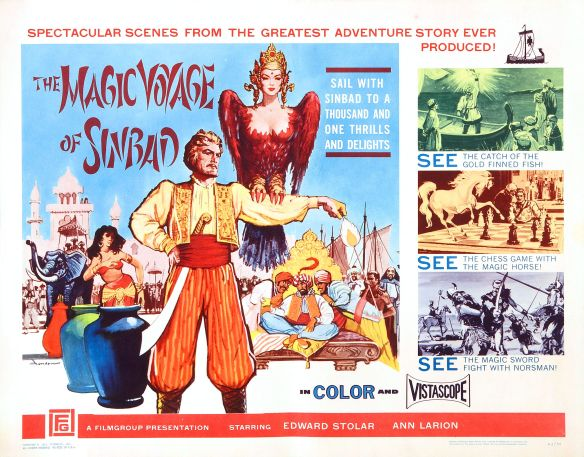 The Americanized version of the Russian film fantasy Sadko (1952, but released in 1962 in the U.S. in the edited version)