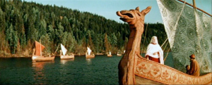 A scene from Ilya Muromets (1956, aka The Sword and the Dragon)
