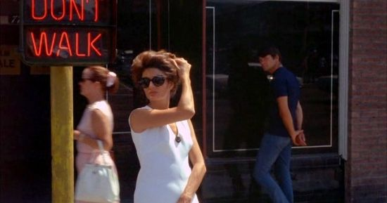 Anouk Aimée in Jacques Demy's Model Shop (Gary Lockwood lurks in the background)