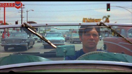 Gary Lockwood driving endlessly in Jacques Demy's Model Shop (1969)