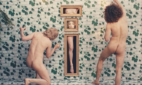 James Rado (left), Viva and Gerome Ragni in Agnes Varda's Lions Love (1969).