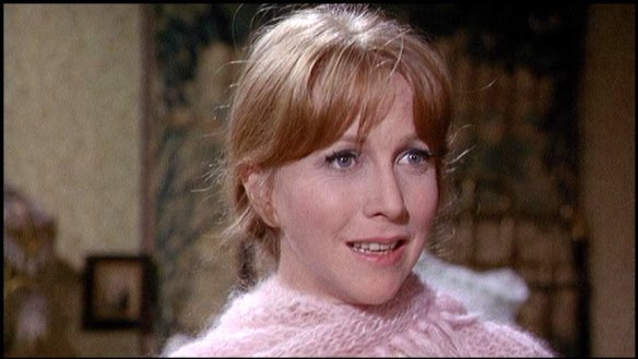 Julie Harris as Miss Thing, Peter Kastner's landlady, in You're a Big Boy Now (1966)