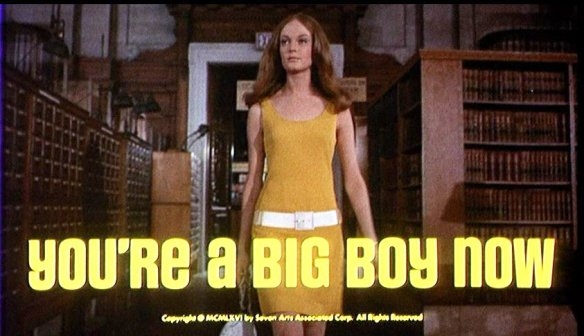 Elizabeth Hartman walks through the reading room at the New York Public Library in the dynamic opening to You're a Big Boy Now (1966)