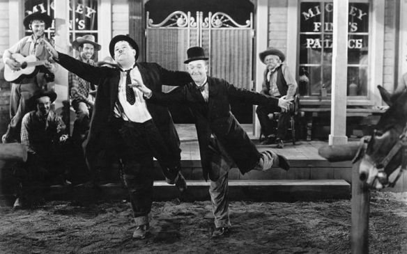 "Laurel and Hardy dancing to the tune of ""The Trail of the Lonesome Pine"" in Way Out West (1937)"