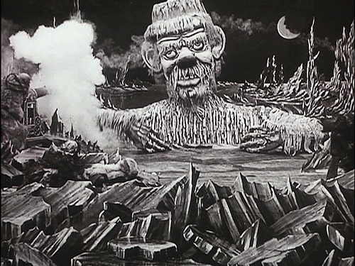 A scene from Georges Melies' The Conquest of the Pole (1912)