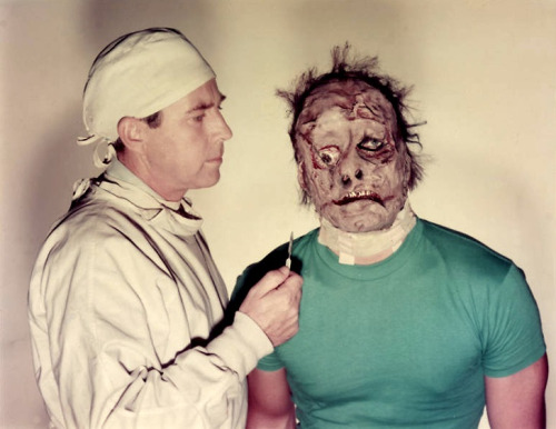 Whit Bissell (left) and Gary Conway in the 1957 trash classic, I Was a Teenage Frankenstein.