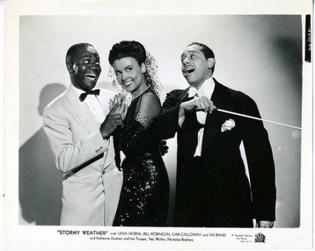 Bill Robinson (left), Lena Horne and Cab Calloway in Stormy Weather (1943)
