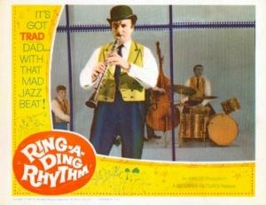 Acker Bilk is featured in Ring-a-Ding Rhythm aka It's Trad, Dad!