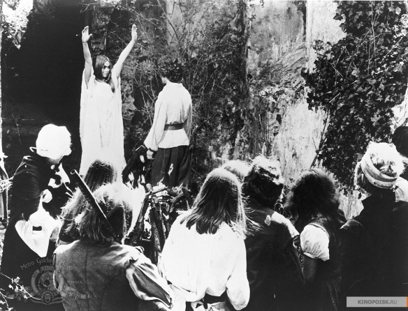 Angel Blake's cult convenes in the forest in this scene from The Blood on Satan's Claw (1971)