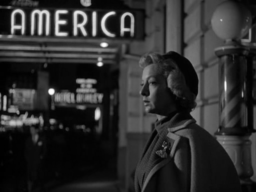 Evelyn Keyes in a film noir-like shot from Earl McEvoy's The Killer That Stalked New York (1950)
