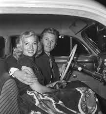 Kirk Douglas and Evelyn Keyes circa 1953