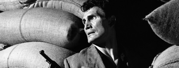"Jack Palance is a criminal infected with the ""pneumonic plague"" in Elia Kazan's Panic in the Streets (1950)"
