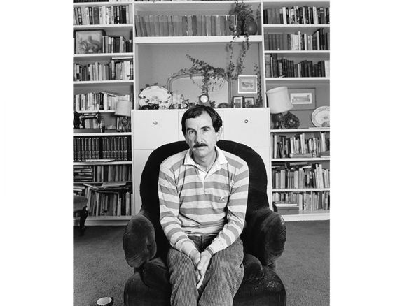 Author Hunter Davies, author of The Beatles, in the 1980s.