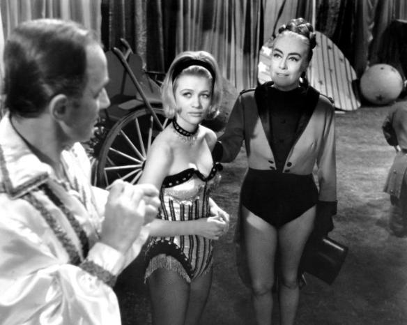 BERSERK!, from left: Peter Burton, Judy Geeson and Joan Crawford star in Berserk (1967)