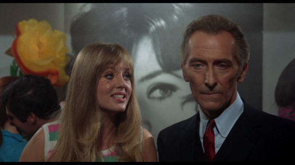Vanessa Howard and Peter Cushing in Corruption (1968)