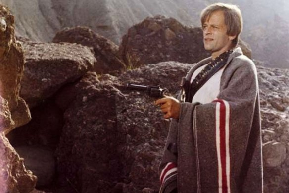 Klaus Kinski is a psycho with a gun in The Ruthless Four (1968)
