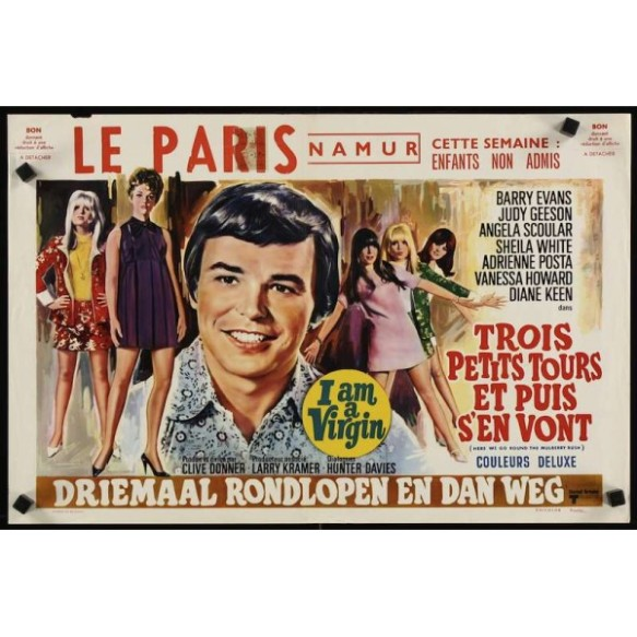 French film poster for Here We Go Round the Mulberry Bush