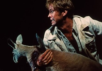 Gary Bond reacts to the kangaroo slaughter in Wake in Fright (1971)