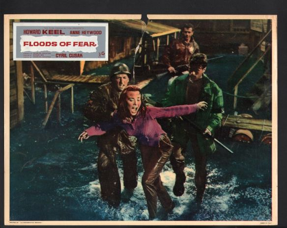Anne Heywood has a panic attack in the disaster drama, Floods of Fear (1958)