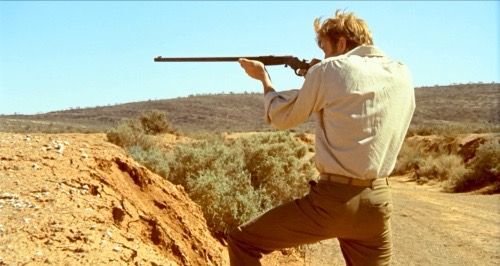 Gary Bond takes aim in the unsettling Australian drama, Wake in Fright (1971)
