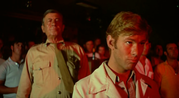 Chips Rafferty (left) and Gary Bond in a scene from Wake in Fright aka Outback (1971), directed by Ted Kotcheff