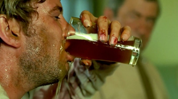 Schoolteacher Gary Bond is reduced to a state of alcoholic desperation in Wake in Fright (1971)