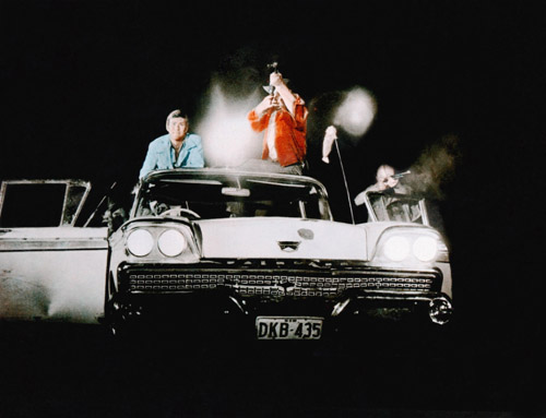 The kangaroo hunting party in Outback (aka Wake in Fright), 1971