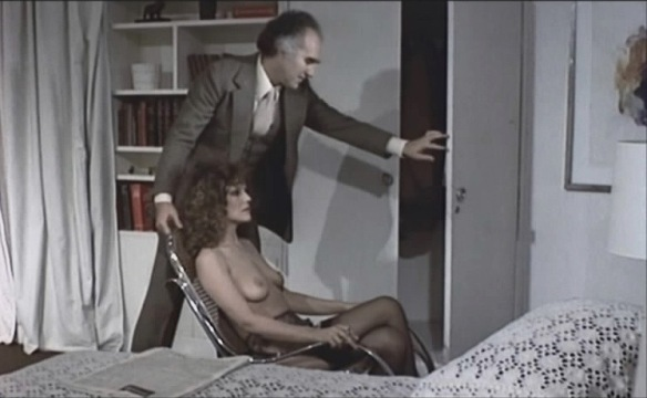 Michel Piccoli is not amused by his wife's impersonation of his sex doll in Life Size (1974), co-starring Rada Rassimov