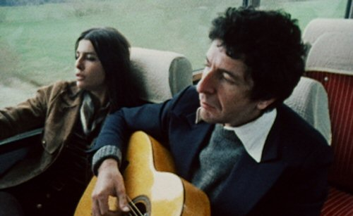 Leonard Cohen on the road in the 1972 concert film/documentary, Bird on the Wire