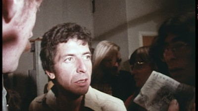 Leonard Cohen backstage in Tony Palmer's concert film, Bird on a Wire (1972)
