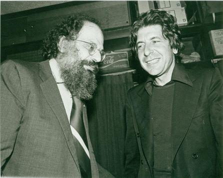 Allen Ginsbury & Leonard Cohen in 1976