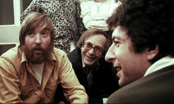 Bob Johnston (left), Marty Machat (center), Leonard Cohen