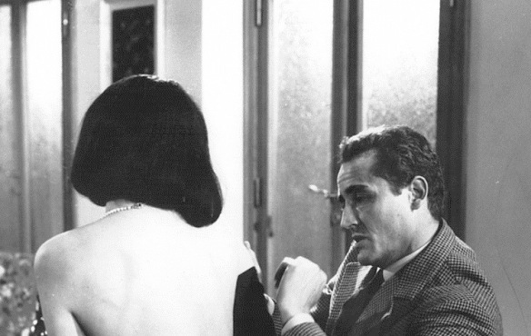 Annie Gorassini and Vittorio Gassman in a scene from Il Successo (1963), directed by Mauro Morassi