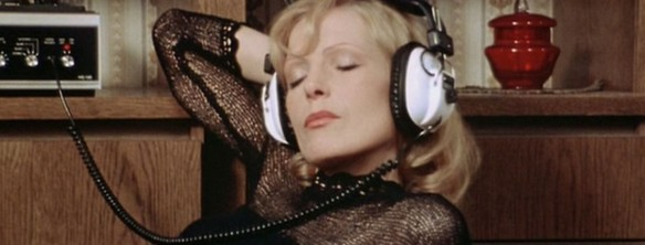 Margit Carstensen tries to relax by listening to music in Fear of Fear (1975) but it doesn't stop her increasing bouts of anxiety and depression.
