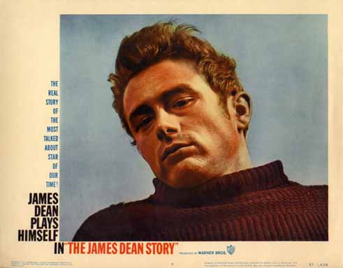 The James Dean Story lobby card