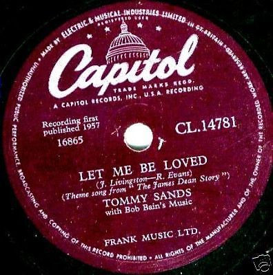 Let Me Be Loved single by Tommy Sands