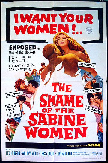 Shame of the sabine women film poster