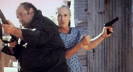 Paul L. Smith (left) and David Carradine play an odd couple in Sonny Boy (1989)