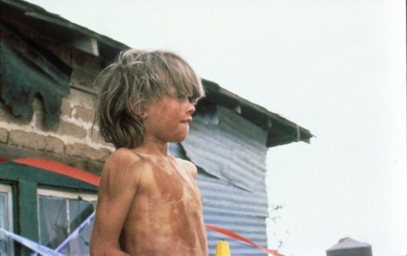 Young Sonny Boy is raised as a wild animal by his demented surrogate parents in Robert Martin Carroll's cult film