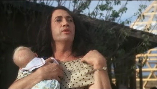 David Carradine as Pearl in the 1989 cult film, Sonny Boy